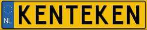 Kenteken - tablica rejestracyjna