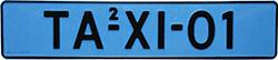 Niebieskie tablice rejestracyjne