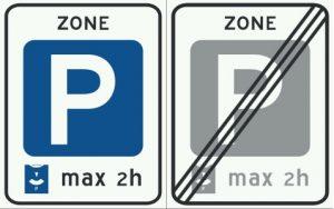 Niebieskie strefy - Znak E10 i E11