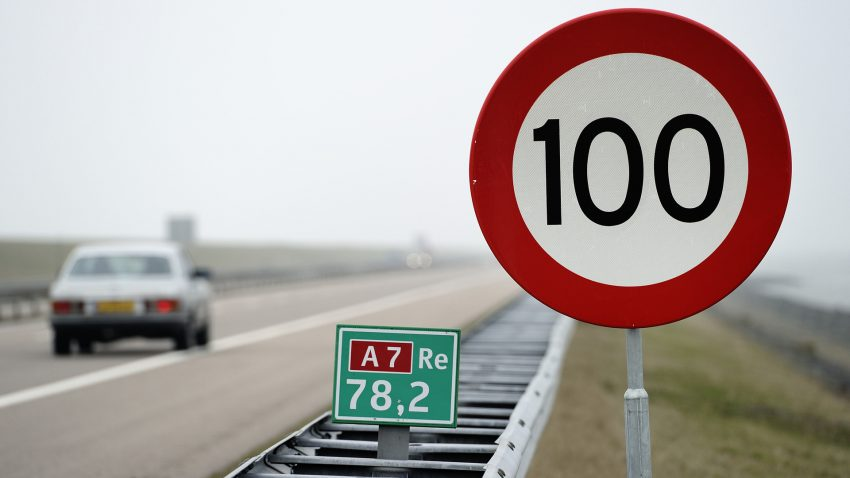 Prędkość maksymalna na autostradach w Holandii 2020