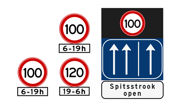 Znaki ograniczenia prędkości w Holandii 2020